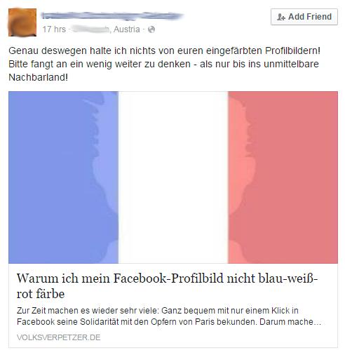 Posting bei Facebook