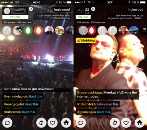 Livestream vom Fan vs. Livestream von U2